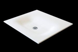 Corian håndvask: Dent firkant, ca. 560 x 370 x 65 mm