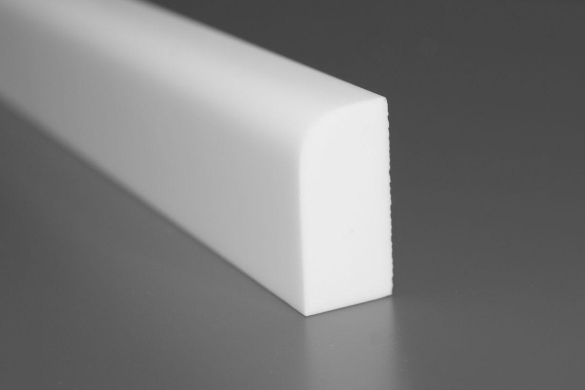 Bagkant 610. Skureliste 12x25 mm med radius på 1 mm. Denne fås også med radius 1 mm. Max længde er 2500 mm.