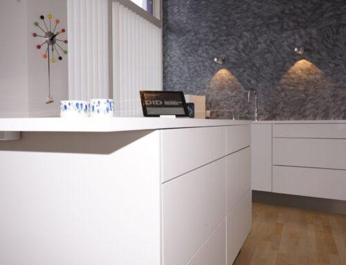 Køkken med rene linjer og fine detaljer